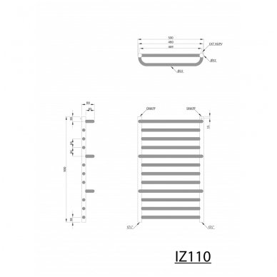 Rankšluosčių džiovintuvas Manisa IZ110 Chromuotas 2