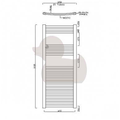 Rankšluosčių džiovointuvas Marcus 450x1118 plieninis 5