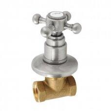 Šalto vandens ventilis Antea nerudijančio plieno spalvos