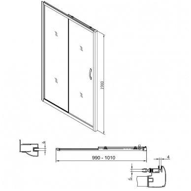 Dušo durys į nišą Gelco Sigma