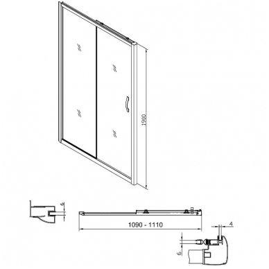 Dušo durys į nišą Gelco Sigma 5