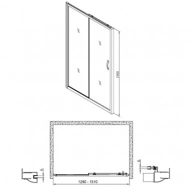 Dušo durys į nišą Gelco Sigma 7