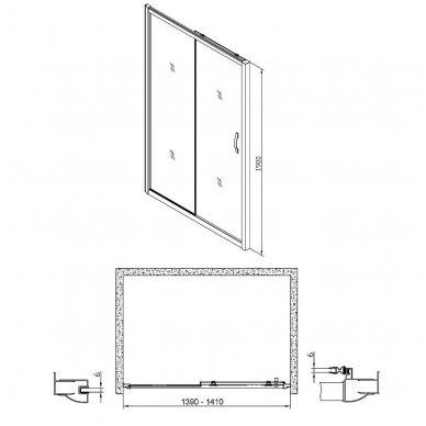 Dušo durys į nišą Gelco Sigma 8