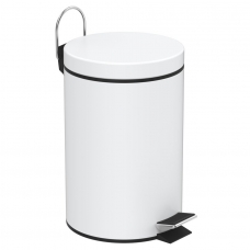 Šiukšliadėžė Simple Line balta