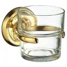 Smedbo vonios stiklinė skaidraus stiklo Villa V243 su žalvariniu laikikliu