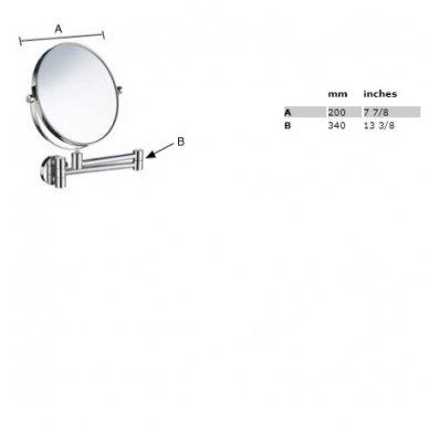 Smedbo pakabinamas kosmetinis veidrodėlis FK445 2