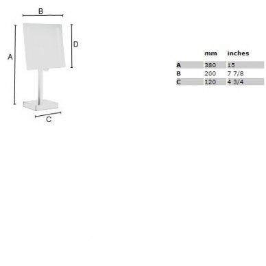 Smedbo pastatomas kosmetinis veidrodėlis FK473E 2