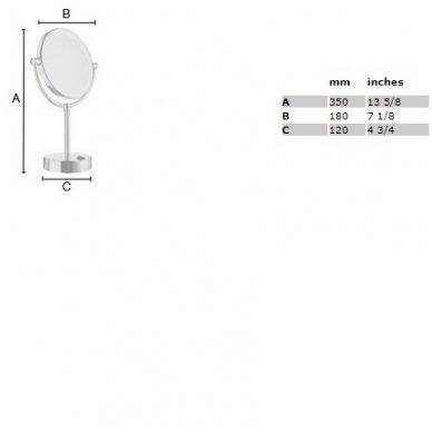Smedbo pastatomas kosmetinis veidrodėlis FK474E 2