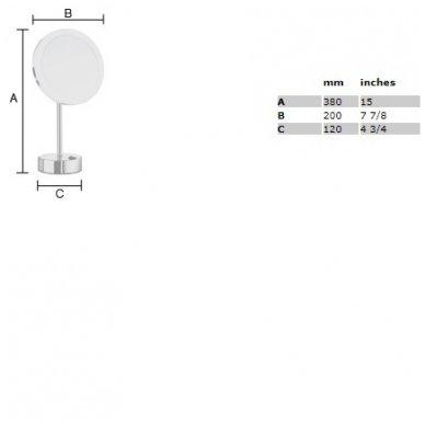 Smedbo pastatomas kosmetinis veidrodėlis su šviesa FK484EB 2