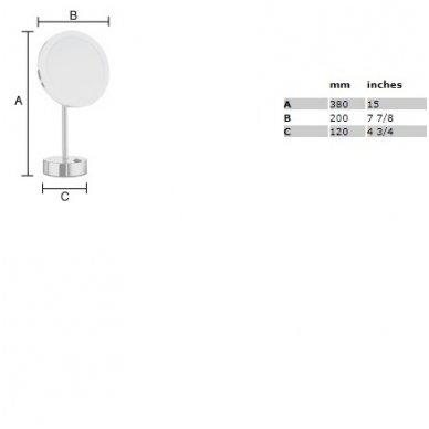 Smedbo pastatomas kosmetinis veidrodėlis su šviesa FK484E 2