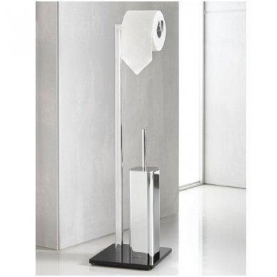 WC Stovas su unitazo šepečiu ir tualetinio popieriaus laikikliu
