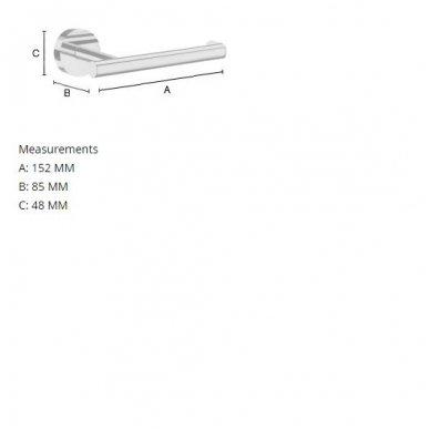 Smedbo tualetinio popieriaus laikiklis Home HK3411,HS3411 3