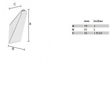 Smedbo viengubas rankšluosčių kabliukas Life GK160 2