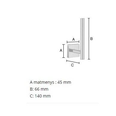 Smedbo viengubo tualetinio popieriaus ritinėlio laikiklis RV320 2