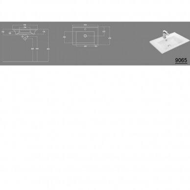 Spintelė su praustuvu VEGA 65x45cm 6