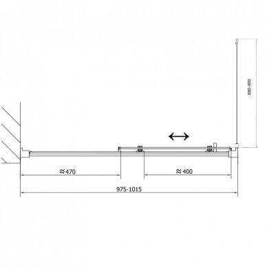 Dušo kabina Polysan Easy Line 110x80cm 10
