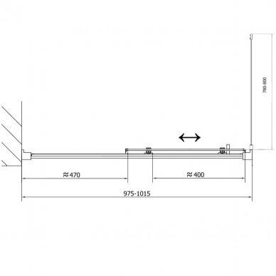 Dušo kabina Polysan Easy Line 110x80cm 12