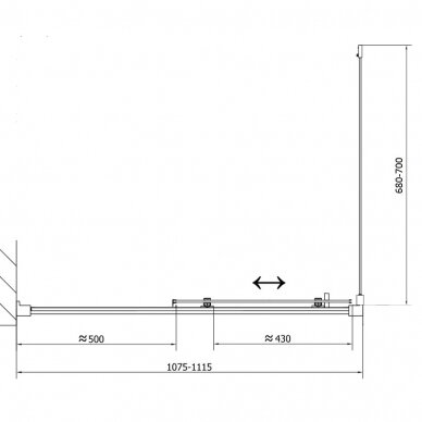 Dušo kabina Polysan Easy Line 110x80cm 13