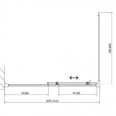 Dušo kabina Polysan Easy Line 110x80cm 14