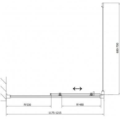 Stačiakampė dušo kabina Polysan Easy Line 16