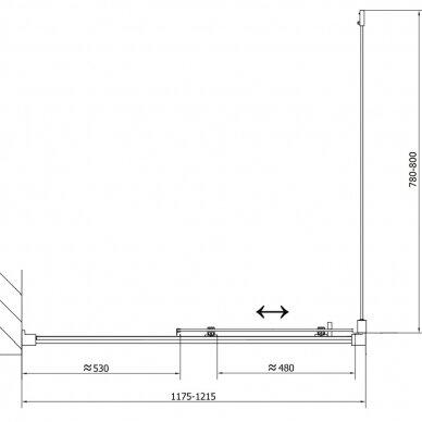 Dušo kabina Polysan Easy Line 110x80cm 17