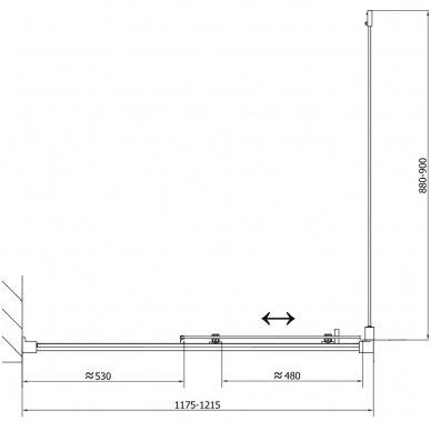 Stačiakampė dušo kabina Polysan Easy Line 18