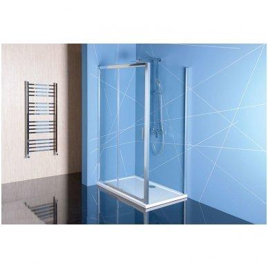 Stačiakampė dušo kabina Polysan Easy Line