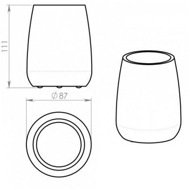 Stiklinė Gemini balta 4