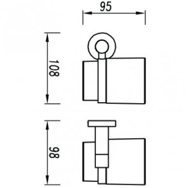 Stiklinė su laikikliu Omnires Modern Project MP60320 CR 2