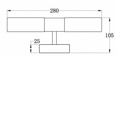 Vonios šviestuvas ABAS 28x9x10.5 cm AU421 2