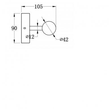 Vonios šviestuvas ABAS 28x9x10.5 cm AU421 3