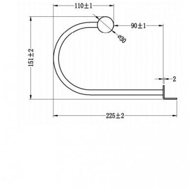 Šviestuvas DIAMANTINA  21x15x16 cm  Tvirtinamas virš veidrodžio 1506-02 2