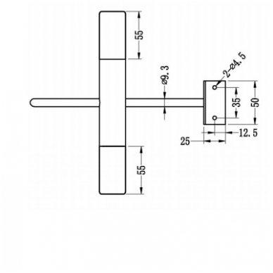 Šviestuvas DIAMANTINA  21x15x16 cm  Tvirtinamas virš veidrodžio 1506-02 3