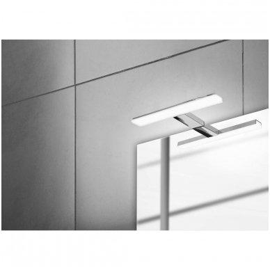 Šviestuvas FELINA LED, 8W, 308x15x112mm, chrome Tvirtinamas virš veidrodžio  FE030 3