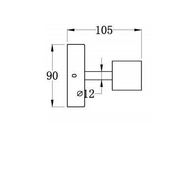 Šviestuvas RODE  28x9x10.5 cm Tvirtinamas prie sienos  AU445 2