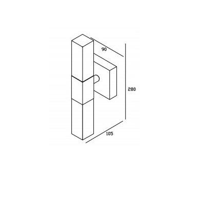 Šviestuvas RODE  28x9x10.5 cm Tvirtinamas prie sienos  AU445 4