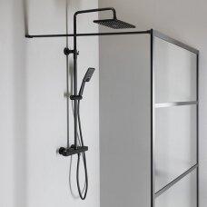 Termostatinė dušo sistema Sapho Mixona Black