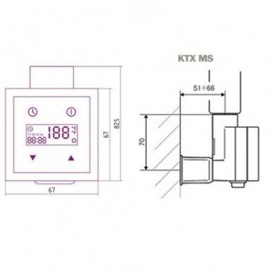 Terma KTX 3 valdiklis su paslėptu laidu 5