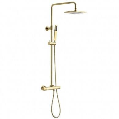 Termostatinė aukso spalvos dušo sistema Sapho DAKAR SZ139