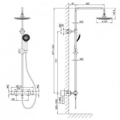 Termostatinė dušo sistema Sapho Kimura KU322 3