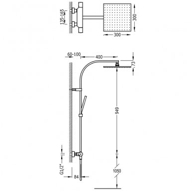 Termostatinė dušo sistema Tres Project 2