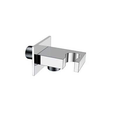 Potinkinė dušo sistema Cube Way su stacionaria 25 cm metaline dušo galva 2