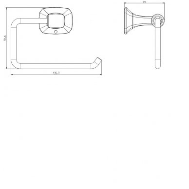 Tualetinio popieriaus laikiklis AIDA AI017 2