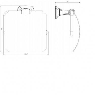 Tualetinio popieriaus laikiklis su dangteliu AIDA AI007 2