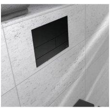 Tece Square II juodas matinis mygtukas