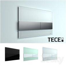 Vandens nuleidimo plokštelė Tece square glass