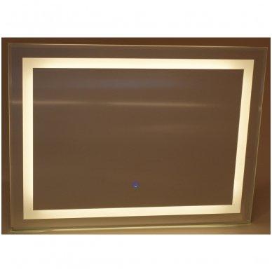 Veidrodis Quadro su LED apšvietimu ir sensoriniu jungikliu 2