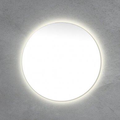 Apvalus veidrodis su LED apšvietimu