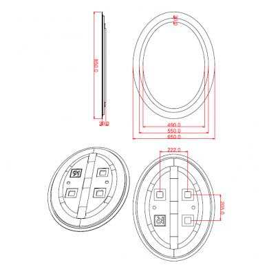 Veidrodis voniai Iluxit su LED apšvietimu 3