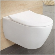 Villeroy & Boch Subway 2 Direct Flush pakabinamas klozetas su Slim Soft Close dangčiu